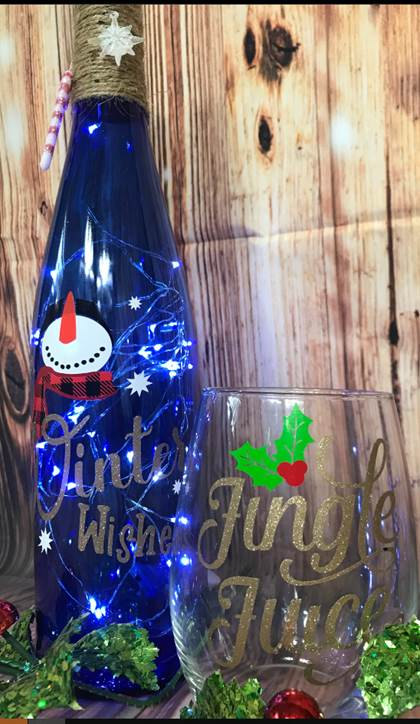 SOLD OUT! Winter Wine Bottle & Glass Class with Asti Lane Designs