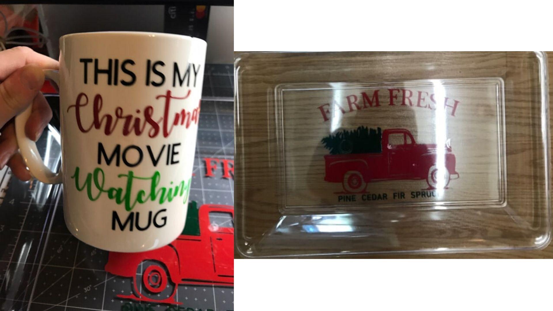 Cookie Tray and Holiday Mug with Asti Lane Designs