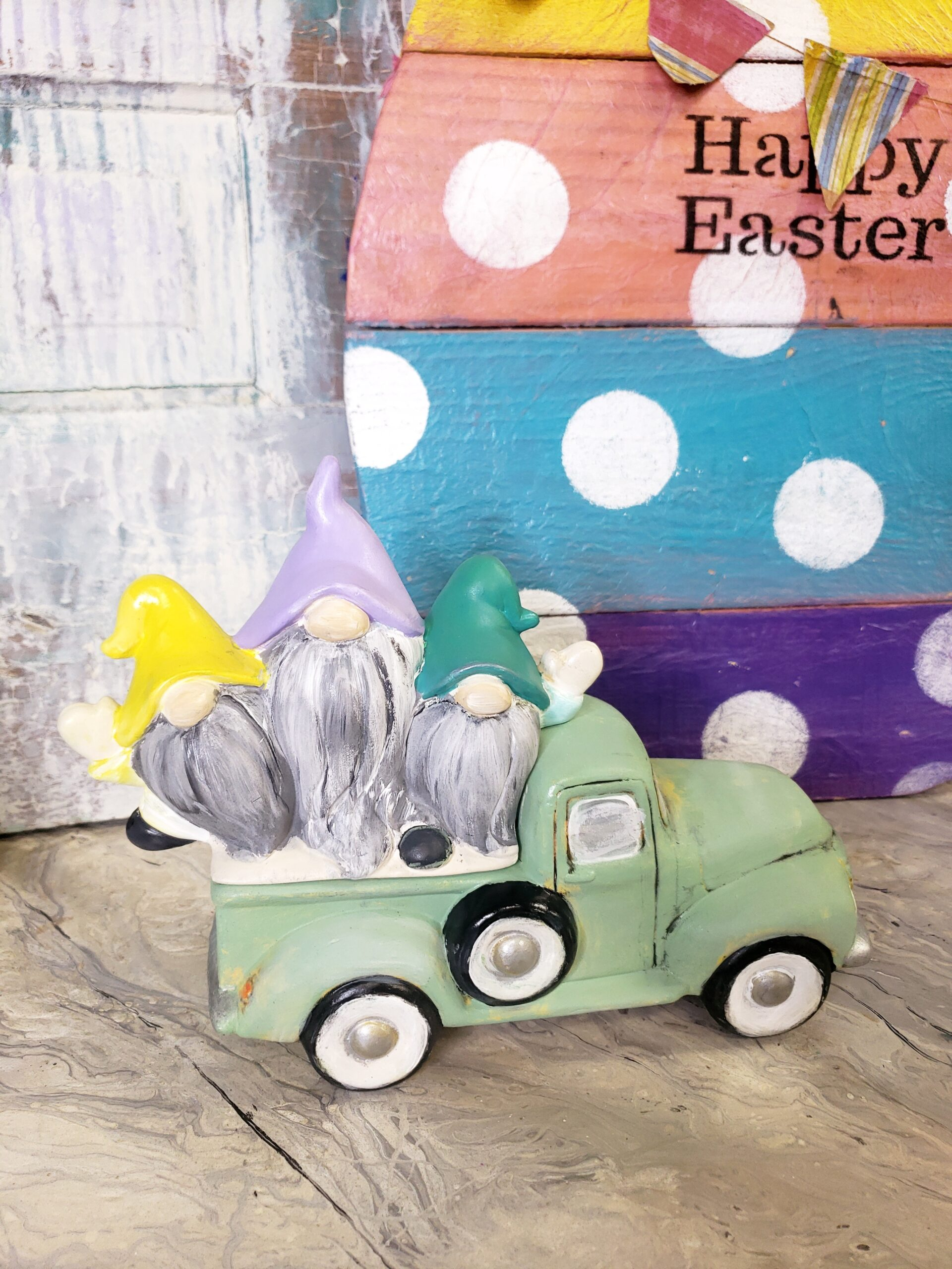 SOLD OUT! Drab to Fab: Ceramic Spring Vintage Truck!